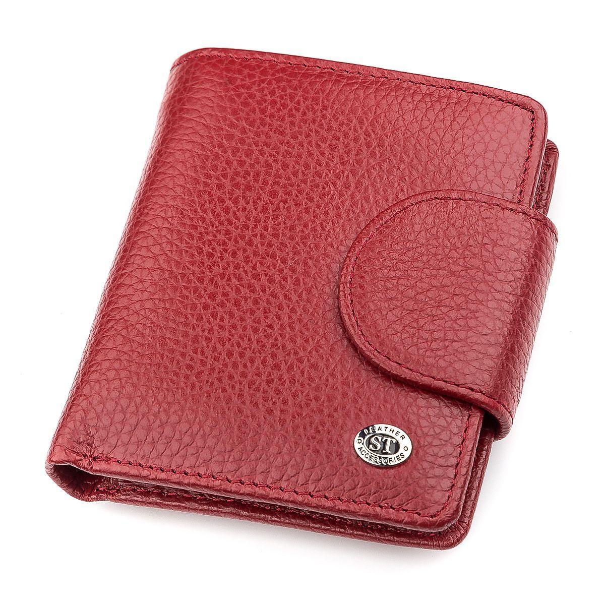 Гаманець Жіночий St Leather 18499 (St415) Невеликий Бордовий, Червоний