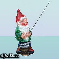 Садовая фигура для дома и сада Гном рыбак 80 см