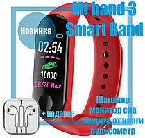 Фитнес браслет Xiaomi Mi Band 3 Red Smart Band M3 Цветной дисплей QualitiReplica Красный