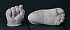 Набор для создания гипсовых 3д скульптур Слепок 5,5 л + подставка, 3D скульптуры рук, романтический подарок, фото 5