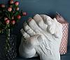 Набор для создания гипсовых 3д скульптур Слепок 5,5 л + подставка, 3D скульптуры рук, романтический подарок, фото 6