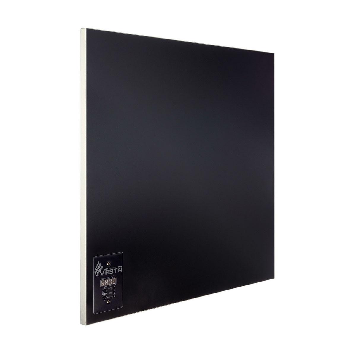 Керамическая панель с терморегулятором Vesta Energy PRO 500 черная. Обогрееет 10 м2