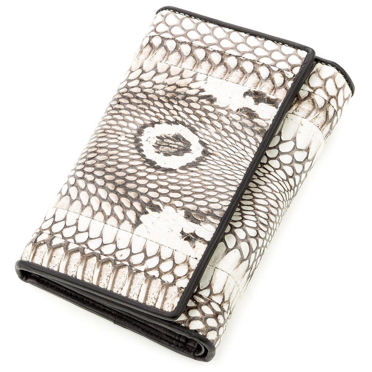 Кошелек Snake Leather 18546 Из Натуральной Кожи Питона Серый, Серый
