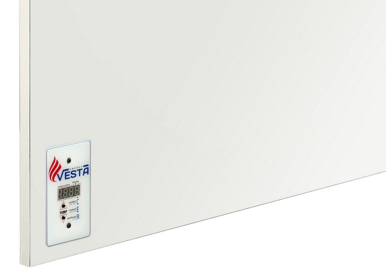 Обогреватель керамический настенный Vesta Energy PRO 1000 белый (моно) Обогреет 20 м кв