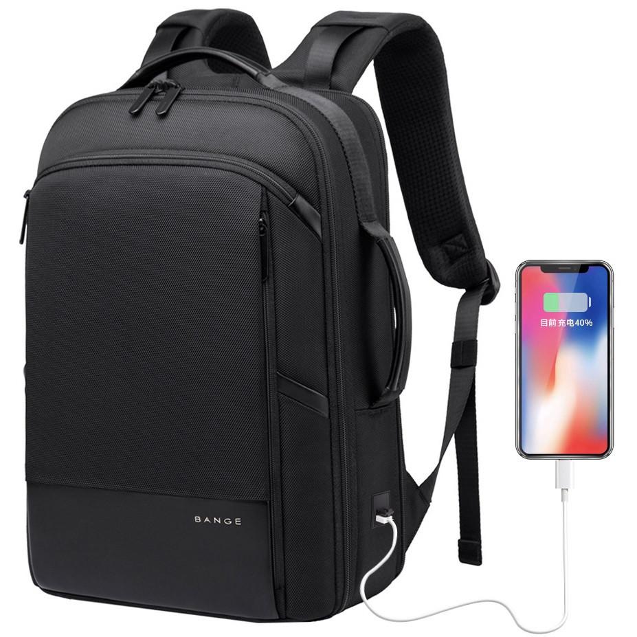 """Классический деловой рюкзак Bange BG-S55, с USB портом, четыре отделения, для ноутбука до 15,6"""", 22л"""