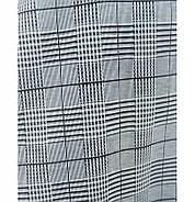 / Размер 56 / Женский элегантный сарафан батал с принтом в мелкую чёрно-бело-серую клетку 15-Серый, фото 4