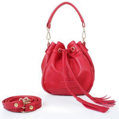 Женская сумка из качественного кожезаменителя  LASKARA (ЛАСКАРА) LK10195-red