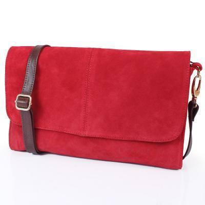 Женская кожаная сумка-клатч LASKARA (ЛАСКАРА) LK-DD220A-red