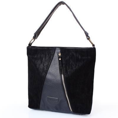 Женская сумка из качественного кожезаменителя  LASKARA (ЛАСКАРА) LK10196-black
