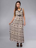 Платье из натурального шифона с вышивкой, 42-48 р-ры