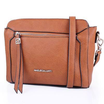 Женская мини-сумка из качественного кожезаменителя  AMELIE GALANTI (АМЕЛИ ГАЛАНТИ) A991458-brown