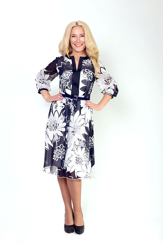 Красивое осеннее женское платье Симона, размеры 48,50,52,54
