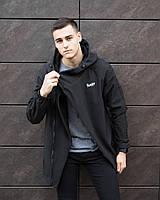 """Черная мужская непромокаемая демисезонная куртка-плащ """"Darkness"""" (Победов """"Даркнесс"""")"""