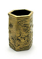 "Подставка для ручек ""Драконы"" под бронзу (11х7х8 см) ЗП-27118"