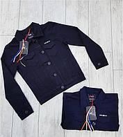 Пиджак джинсовый  для девочек 134,140,146,152,158,164 роста Ayugi, фото 1