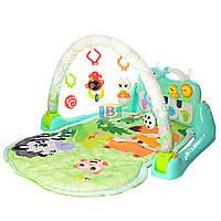 Развивающий коврик для младенцев. Звуковые и световые эффекты. Подвесные игрушки. HOLA 1102