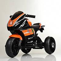 Детский трехколесный электромотоцикл. MP3. Два мотора 25W, два аккумуляторов6V4AH. Bambi M 4135L-7