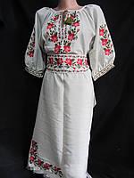 Купить вышитое платье из льна