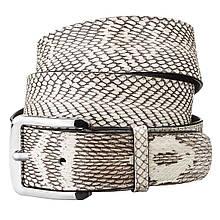 Ремень Snake Leather 18168 Из Натуральной Кожи Кобры Белый, Белый