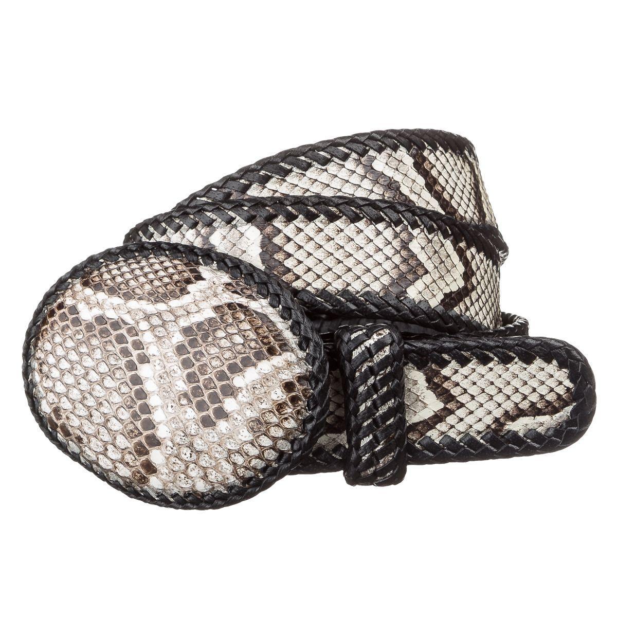 Ремень Женский Snake Leather 18190 Из Натуральной Кожи Питона Разноцветный, Разноцветный