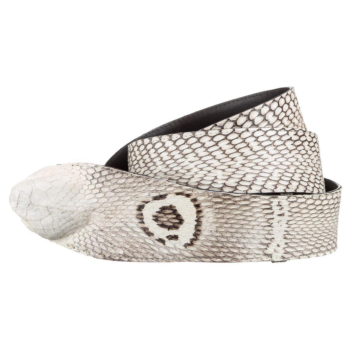 Ремень Snake Leather 18199 Из Натуральной Кожи Кобры Белый, Белый