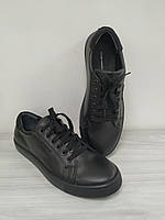 Кеды кожаные черные подростковые GS Акция!!! - 40%, фото 1