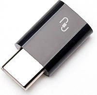 Кабель-переходник Xiaomi Переходник Xiaomi Micro USB to Type-C Converter Black F_46108
