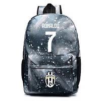 Рюкзак футбольный клуб Juventus Ronaldo 7 серый, фото 1