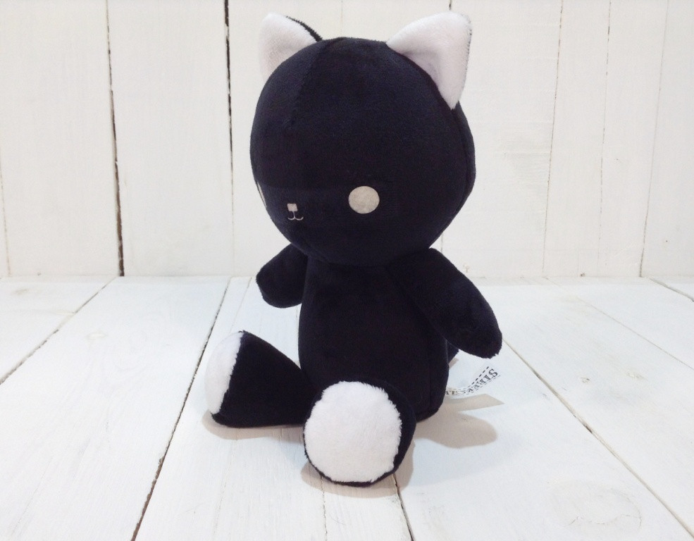 Мягкая игрушка Strekoza котенок Малыш Айси 21см черный