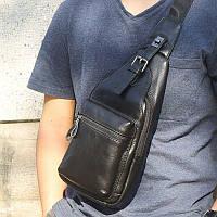 """Рюкзак сумка через плече """"Стиляга New 6"""" натуральная кожа"""