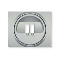Лицевая панель розетки акустической (для динамиков) одинарная, цвет Aлюминий Legrand Galea Life (771300)