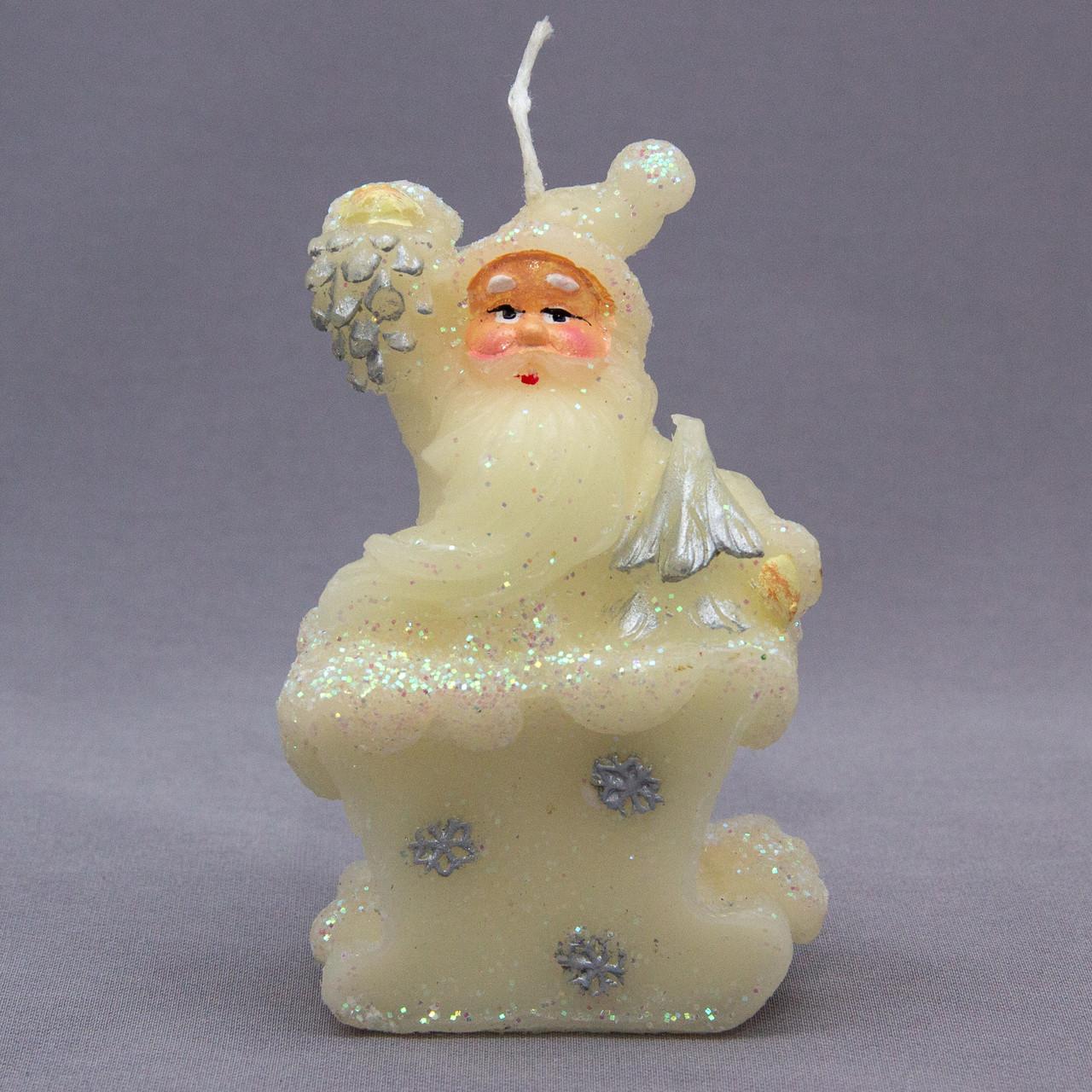 Свечка декоративная Дед Мороз с елкой, 6, 5*4*10см (442966-1)