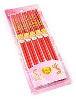 Палочки для еды бамбук (10 пар) (29х11х1,5 см) ЗП-30834