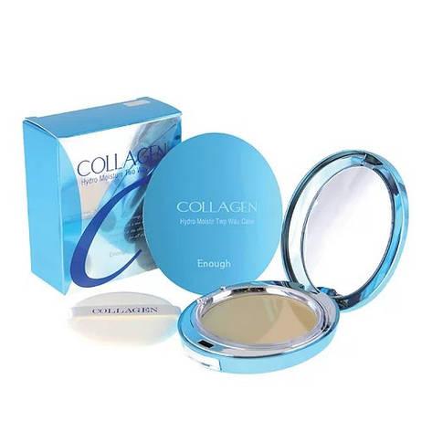Увлажняющая компактная пудра Enough Collagen Twoway Cake (Including Refill) 13 г (960303), фото 2