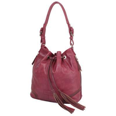 Женская сумка из качественного кожезаменителя  LASKARA (ЛАСКАРА) LK10194-plum
