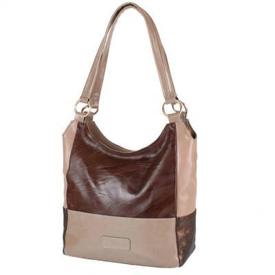 Женская кожаная сумка LASKARA (ЛАСКАРА) LK-DD212-brown-taupe-beig