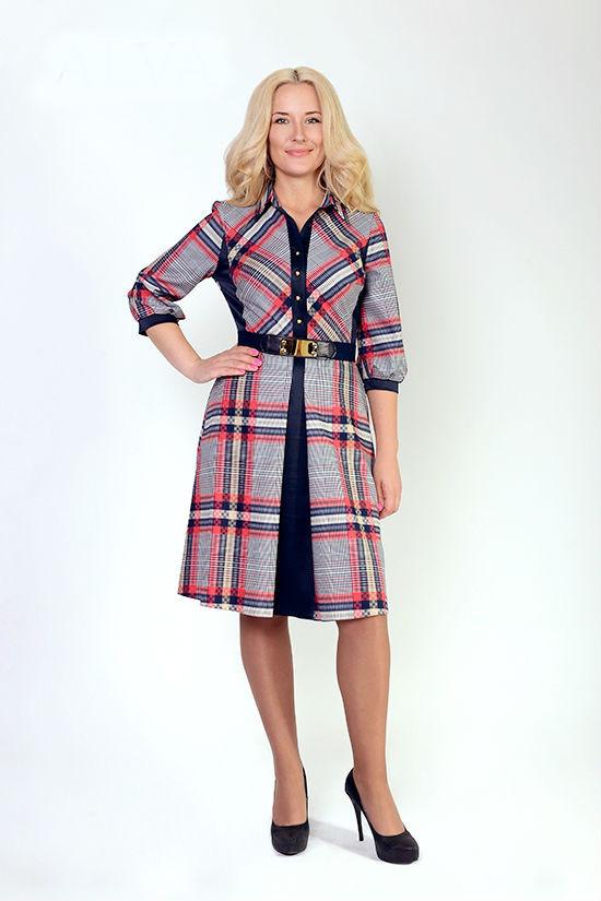 Красивое осеннее женское платье Александра, размеры 46,48,50,52