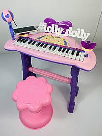 Пианино-синтезатор со стульчиком 6613 с микрофоном от сети