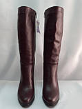 Классические зимние бордовые сапоги Romax, фото 6