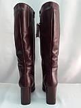 Классические зимние бордовые сапоги Romax, фото 7