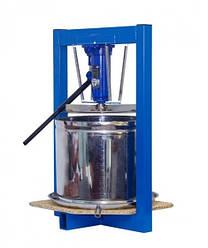 Гидравлический пресс для сока 25 л с домкратом 5 тонн (нержавейка)