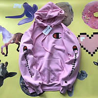 Champion - хайповая Худи фиолетового цвета (Реплика А++) Бирка Топ