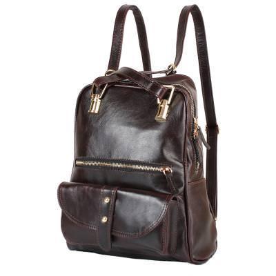 Рюкзак женский кожаний LASKARA (ЛАСКАРА) LK-DM229-dark-bordeaux
