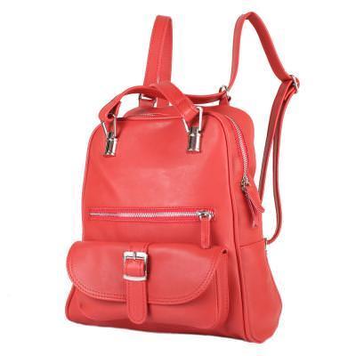 Рюкзак женский кожаний LASKARA (ЛАСКАРА) LK-DM229-red