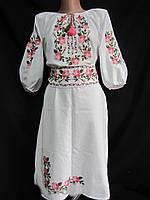 Купить платье из домотканого полотна Розы - 3