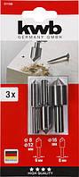 Набор зенковок 90° по дереву и цветным металлам KWB., фото 1