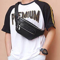 "Мужская  бананка  сумка на пояс ""Casual new"" натуральная кожа, фото 1"