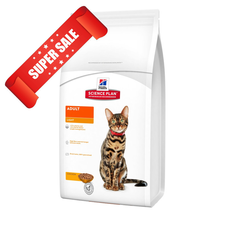 Сухой корм для котов Hill's Science Plan Feline Adult Light Chicken 1,5 кг
