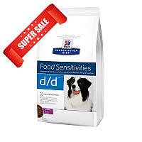 Лечебный сухой корм для собак Hill's Prescription Diet Canine Food Sensitivities d/d Duck & Rice 12 кг