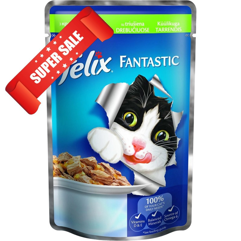 Влажный корм для кошек Purina Felix Fantastic с кроликом в желе 100 г